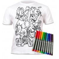 Splat Planet marškinėliai su flomasteriais - Dino
