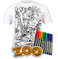 Splat Planet marškinėliai su flomasteriais - Zoo