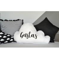 Dekoratyvinė pagalvėlė debesėlis su vardu BM - 120
