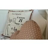 Dekoratyvinė pagalvėlė su gimimo metrikais