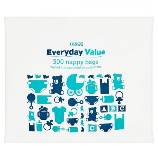 TESCO kvepiantys maišeliai naudotoms sauskelnėms 300vnt.