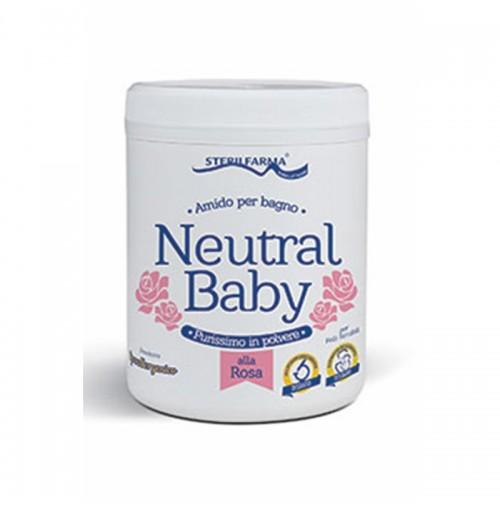 Neutral Baby rožių aromato ryžių milteliai voniai, 220g