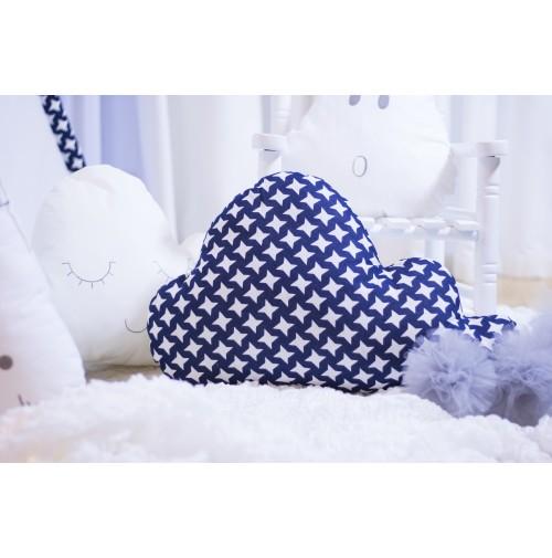 Dekoratyvinė pagalvėlė debesėlis - žvaigždutės