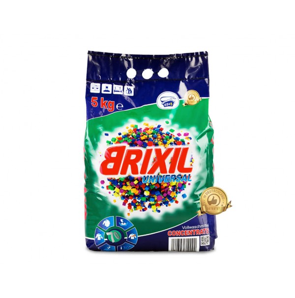 "Skalbiamieji milteliai ""BRIXIL"" Universal (5kg – 65+5 skalbimai)"