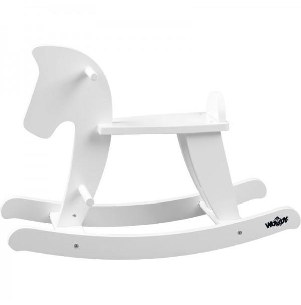 Baltas medinis supamasis arkliukas 2+