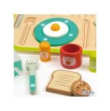 Medinis pusryčių rinkinys su padėklu 18mėn+