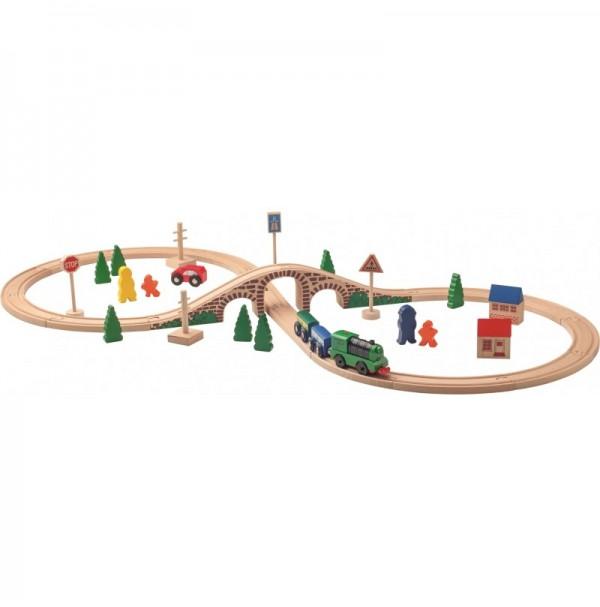 """Medinis traukinukas """"Traukinių stotis"""""""