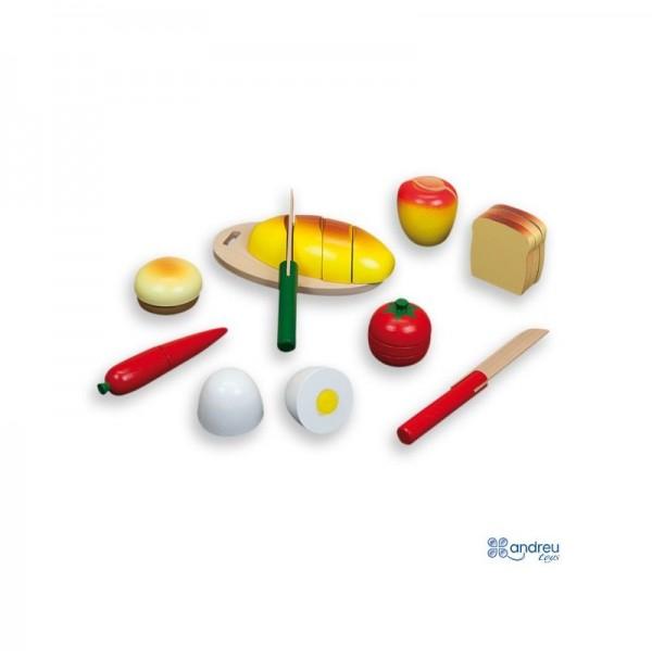 Medinių pjaustomų maisto produktų rinkinys 18mėn +