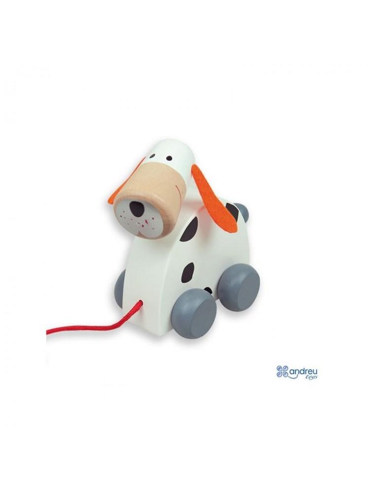 """Traukiamas medinis žaisliukas """"Šunelis"""" 18 mėn+"""